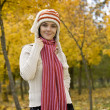 Woman in autumn park — Stock Photo #6872365