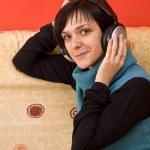 Woman with headphones — Stock Photo #6872366
