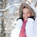 Beautiful winter woman — ストック写真 #6872549