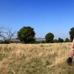 turistico di donna in posa — Foto Stock #6872558