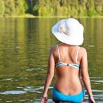 Girl relaxing in bikini — Stock Photo