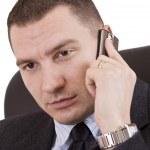 homme d'affaires sur un téléphone mobile — Photo