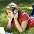 Woman listening to music — Stock Photo #6872892