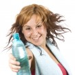 Woman with bottle — Stock Photo #6872984