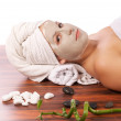 Woman during spa — Stock Photo #6873042