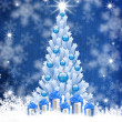 Blue christmas background — Foto de Stock