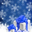 Royalty-Free Stock Photo: Blue christmas background