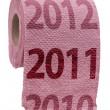 conceito de papel higiênico rosa — Foto Stock