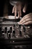 Dj tocar música — Fotografia Stock