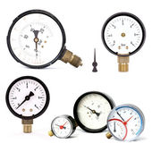 Pressure meters isolated — Stock Photo