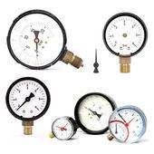 Pressure meters isolated — Stock Photo