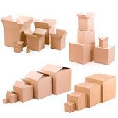 Kartonové krabice — Stock fotografie