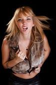 Mulher grita — Foto Stock
