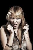 Mujer gritando — Foto de Stock