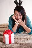 Surprised woman — Stock Photo
