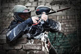 Paintball hráč — Stock fotografie