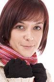 Zimní žena — Stock fotografie