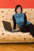 Kobieta relaksujący — Zdjęcie stockowe