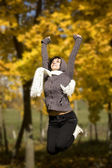 Woman jumping — Stockfoto