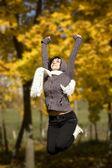 Mulher de salto — Foto Stock