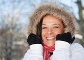 счастливая женщина — Стоковое фото