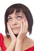 сексуальная женщина позирует — Стоковое фото