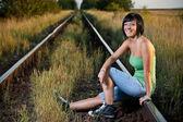 Spoorweg — Stockfoto