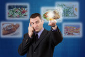 Man selecting images — Stock Photo