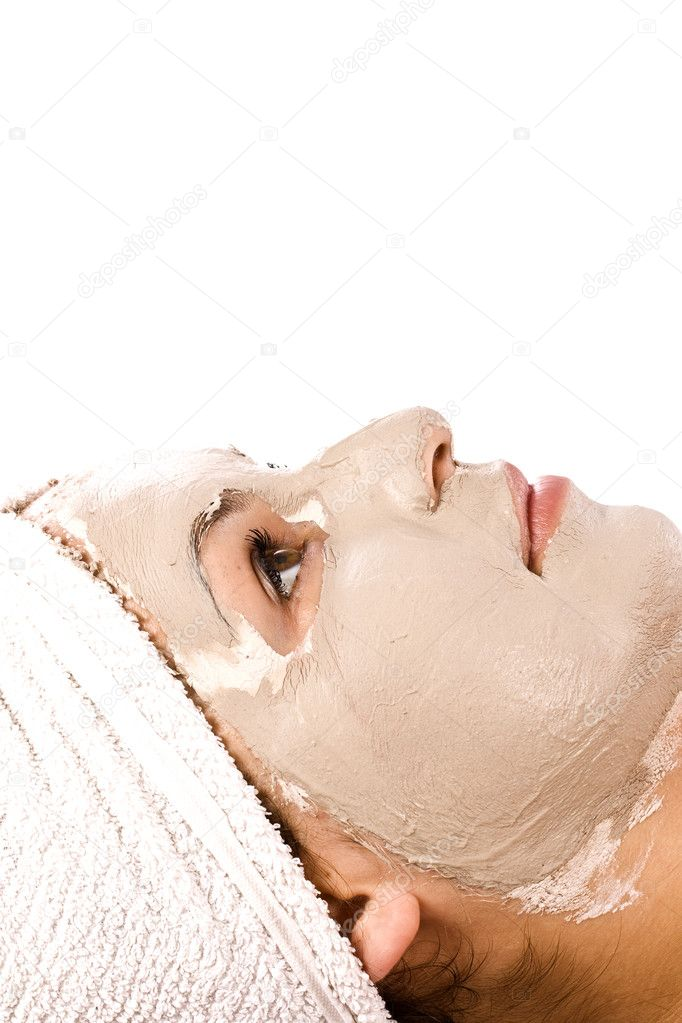 Portrait of beautiful woman during spa treatment  — Stock Photo #6872979