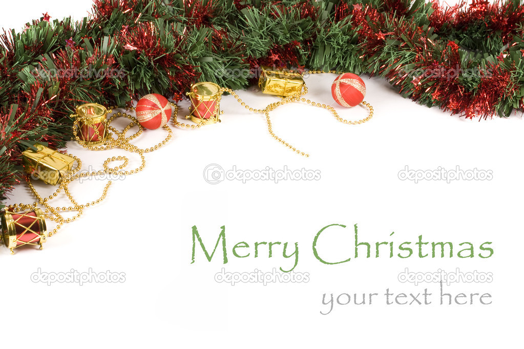 Christmas decoration isolated in white — Stock Photo #6873132