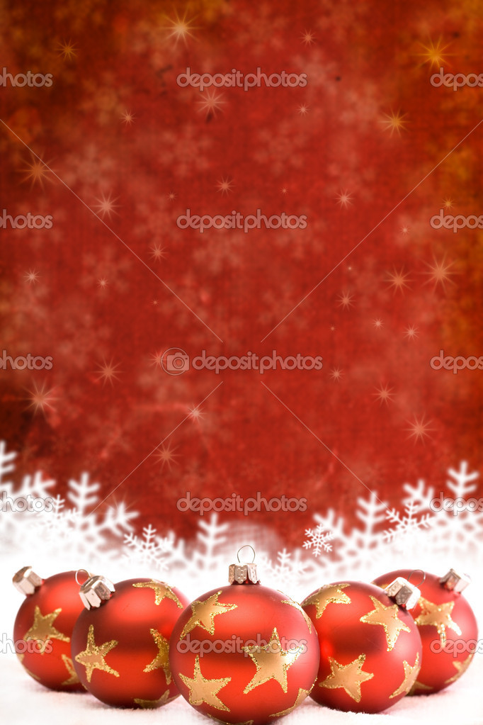 Christmas background with baubles — Stock Photo #6873174
