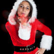 Royalty-Free Stock Photo: Woman wearing santa clause costume