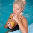 Young beautiful woman in jacuzzi — Stock Photo #7515982