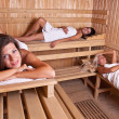 Relaxation in sauna — Stock Photo #7516052