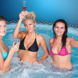 Young women in jacuzzi — Stock Photo