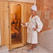 Infrared sauna - Stock Photo
