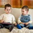 Children reading book — Stock Photo #7516271