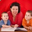 Mother with two children — Stock Photo #7516710