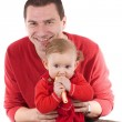 Little girl with father — Stock Photo