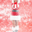 Woman wearing santa clause costume — Stock Photo #7516921