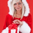Girl holding a gift — Stock Photo #7516931
