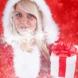 Stock Photo: Sexy girl wearing santclaus clothes