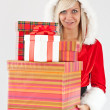 Christmas woman — Stock Photo