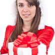 Sexy Woman with Santa Hat — Stock Photo #7517223