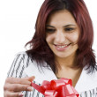 Stock Photo: Woman with gift