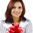 Woman with gift — Stock Photo #7517268