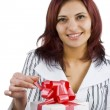 Girl holding a gift — Stock Photo #7517282