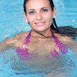 Young woman in the water — Stock Photo