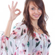 Woman gesturing a okay sign — Stock Photo #7517786