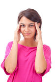 Woman with headache — Stock Photo